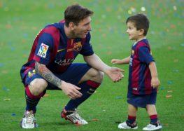 Thiago, le fils de Messi, dans les rangs du FCB Escola